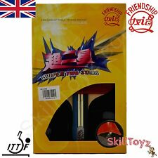 Friendship Super 2 Star Table Tennis Bat Racket plus 2 FREE Protectors! UK STOCK