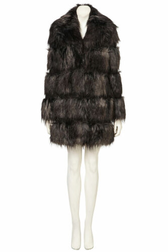 Coat Yeti Pelted Gorgeous Vintage Black Style Shaggy Fur 40's Topshop Faux 50's w4WEPqaF
