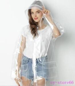 63a52ff4d 2019 Transparent Clear Raincoat Waterproof Womens Long Stylish Rain ...