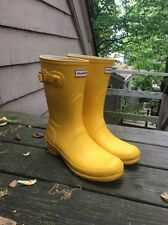 New Hunter Women's Original Short Rain Boots, Yellow Size 10F, 9M, 8 UK, 42 EU