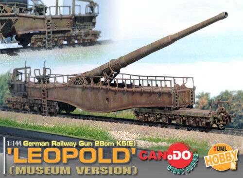 CAN DO 1 144 WWII GERMAN LEOPOLD RAILWAY GUN DIORAMA MUSEUM VERSION