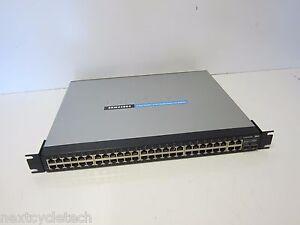 Details about Linksys Cisco SRW248G4 V1 1 48 Port 10/100 4 Port Gigabit  Switch w/Webview