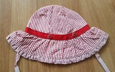 Gymboree baby girls red stripes sunhat 12-18 months bnwt