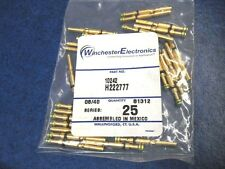 Winchester Electronics 10242 H222777 Gold Plated Pin Contact Socket 20 - 24 AWG