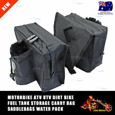 Dirt Pit Quad Bike ATV Snowmobile Scooter Motorcycle Tank Saddle Water BLACK Bag