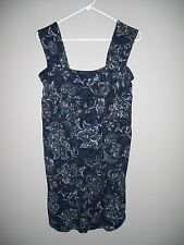 Ann Taylor LOFT Womens Size M Multi-color Floral Stretch Knit Jumper Dress