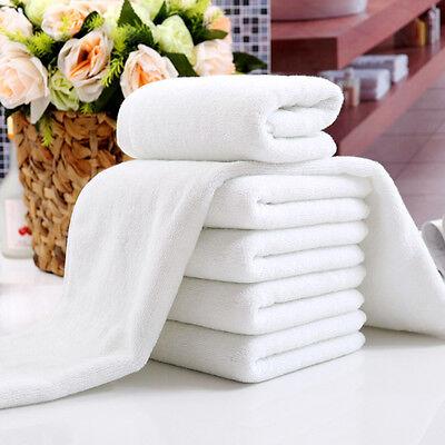 1 x New White Soft Cotton Hotel Bath Towel Washcloths Travel Hand Towels Useful
