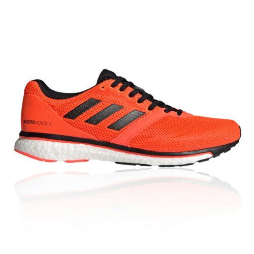 Orange Sports adidas Mens Adizero Adios 4 Running Shoes Trainers Sneakers