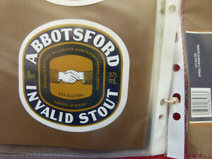 VINTAGE-AUS-BEER-LABEL-CARLTON-amp-UNITED-ABBOTSFORD-INVALID-STOUT-375ML-16IS
