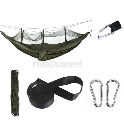 Double Person Hanging Hammock Bed Outdoor Travel Camping Tent w// Mosquito US
