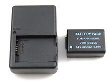 Charger DE-A83 and Battery DMW-BMB9 for Panasonic DMC-FZ40K DMC-FZ45K DMC-FZ47K
