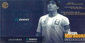 Diego-Maradona-Coin-Medal-in-Sealed-Collectible-Blister-2000-40th-Anniversary