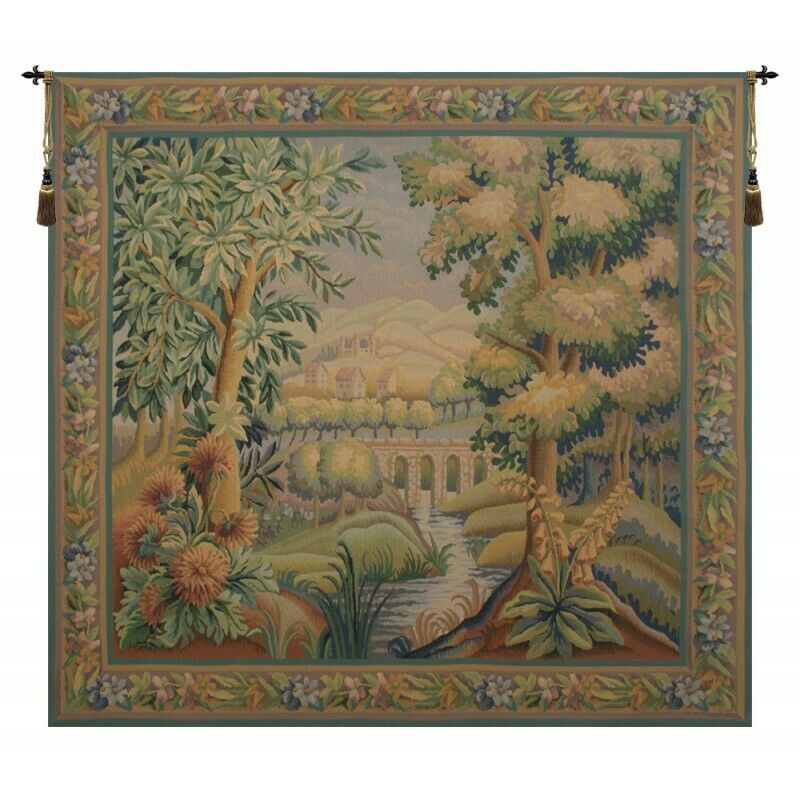 Bridge Without Bird I Belgian Tapestry Wall Hanging H 52  x W 55