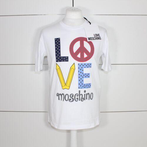 Love Moschino Pencil Graphic T-Shirt White