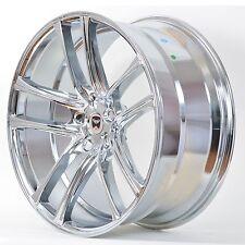 4 GWG Wheels 22 inch Chrome ZERO Rims 22x9 fits 5x114.3 FORD MUSTANG GT 2005-17