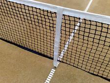 Professional Adjustable Tennis Court Center Net Strap Slide Height White Color
