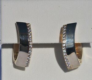 Echt-925-Sterling-Silber-Ohrringe-Creolen-vergoldet-Zirkonia-mm-Nr-336Z