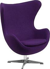 Flash Furniture Purple Wool Fabric Egg Chair with Tilt-Lock Mechanism ZB-16-GG