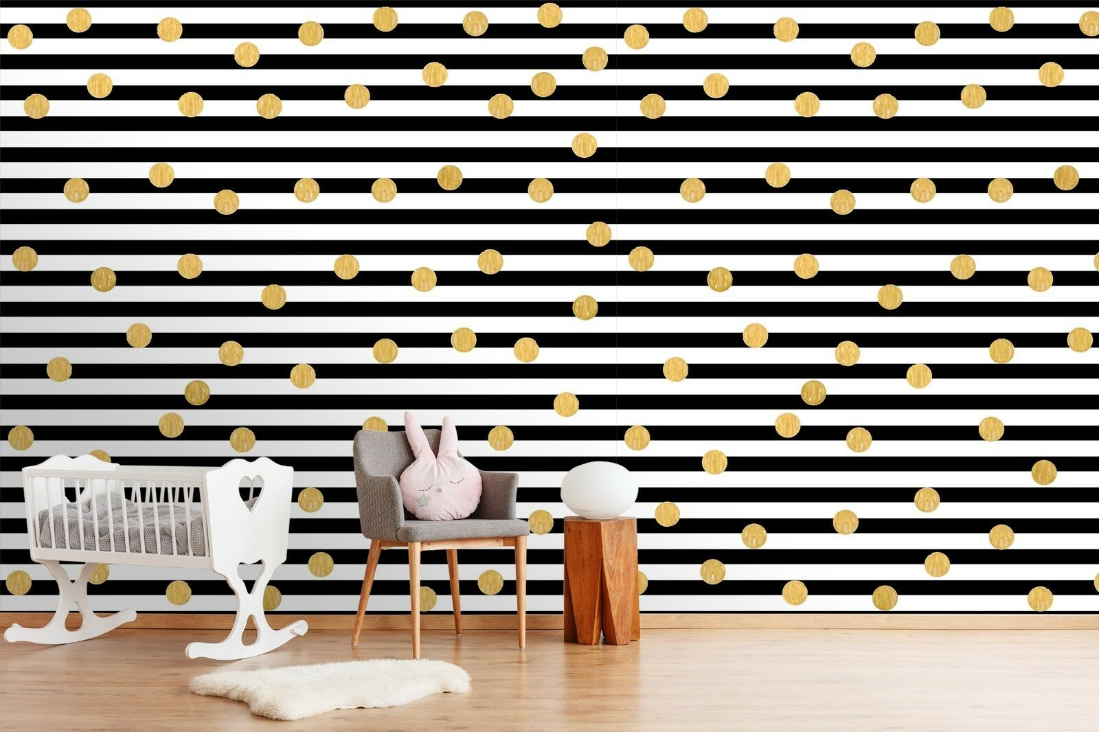 3D Simple Stripe Point 89 Wallpaper Mural Paper Wall Print Murals UK Lemon