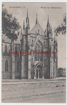 (99005) Ak Wimpfen, Portal Der Stiftskirche, Um 1910