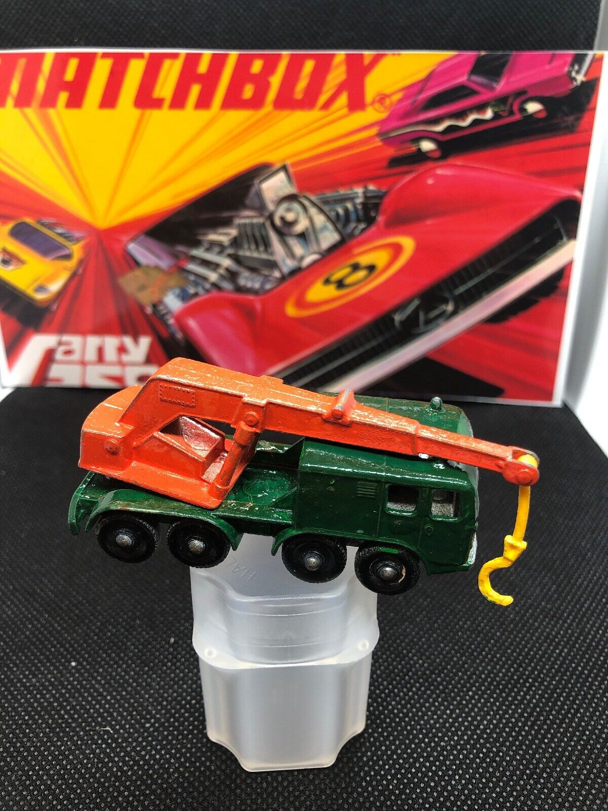 Matchbox Superfast No30 8-WHEEL CRANE   RARE HOLY GRAIL DARK GREEN ISSUE