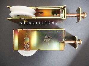 Image is loading Doric-DR211-Sliding-Glass-Door-Wheels-Rollers-1- & Doric DR211 Sliding Glass Door Wheels / Rollers * 1 Pair * heavy ...