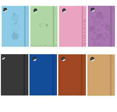 A4 or A5 SOFT TOUCH ELASTIC CLOSE NOTEBOOKS 200 LINED CREAM 80gsm PAPER PAGES
