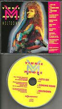Ufo VINNIE MOORE Ultra rare 3 TRK SAMPLER 1991 USA PROMO Radio DJ CD Single MINT