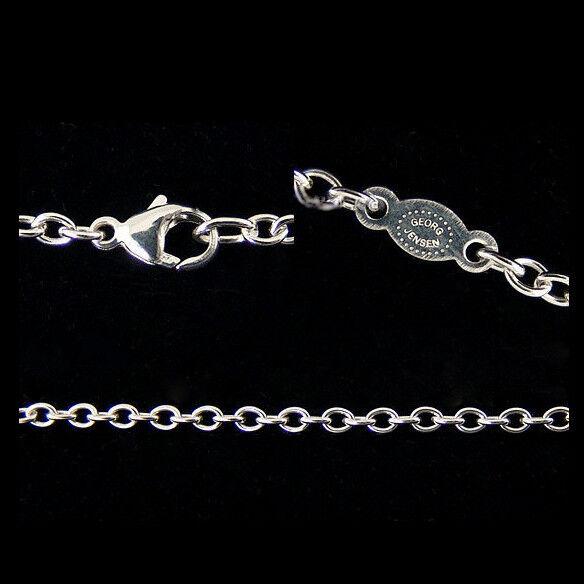 "Georg Jensen Sterling Silver Anchor Chain A40-45 cm//18/"""