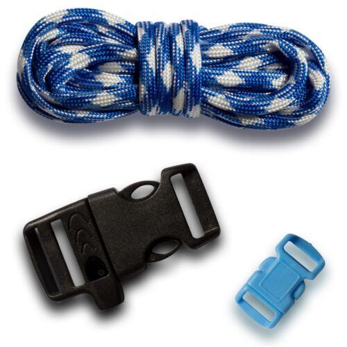 19-teiliges Paracord Set Seile Schnüre Knüpfset Bastelset Armband Band Verschluß