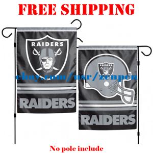 Oakland-Raiders-Logo-Garden-Outdoor-Flag-Double-Sides-12x18-034-NFL-2019-Fan-NEW