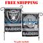 Oakland-Raiders-Logo-Garden-Outdoor-Flag-Double-Sides-12x18-034-NFL-2019-Fan-NEW thumbnail 1