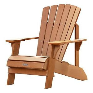 Superbe Lifetime Adirondack Chair 60064 Simulated Wood Patio Furniture