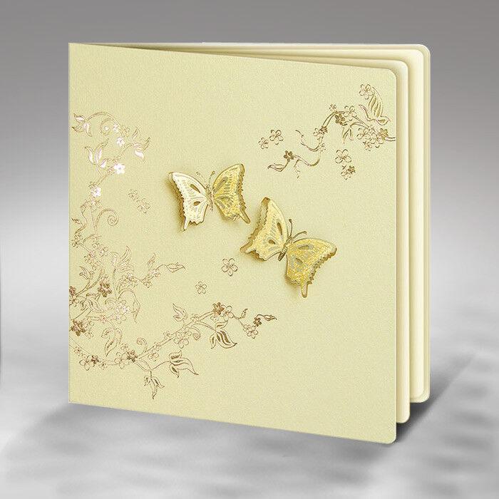 Einladungskarten Hochzeit FE14S mit Umschlag  Hochzeitseinladungskarte