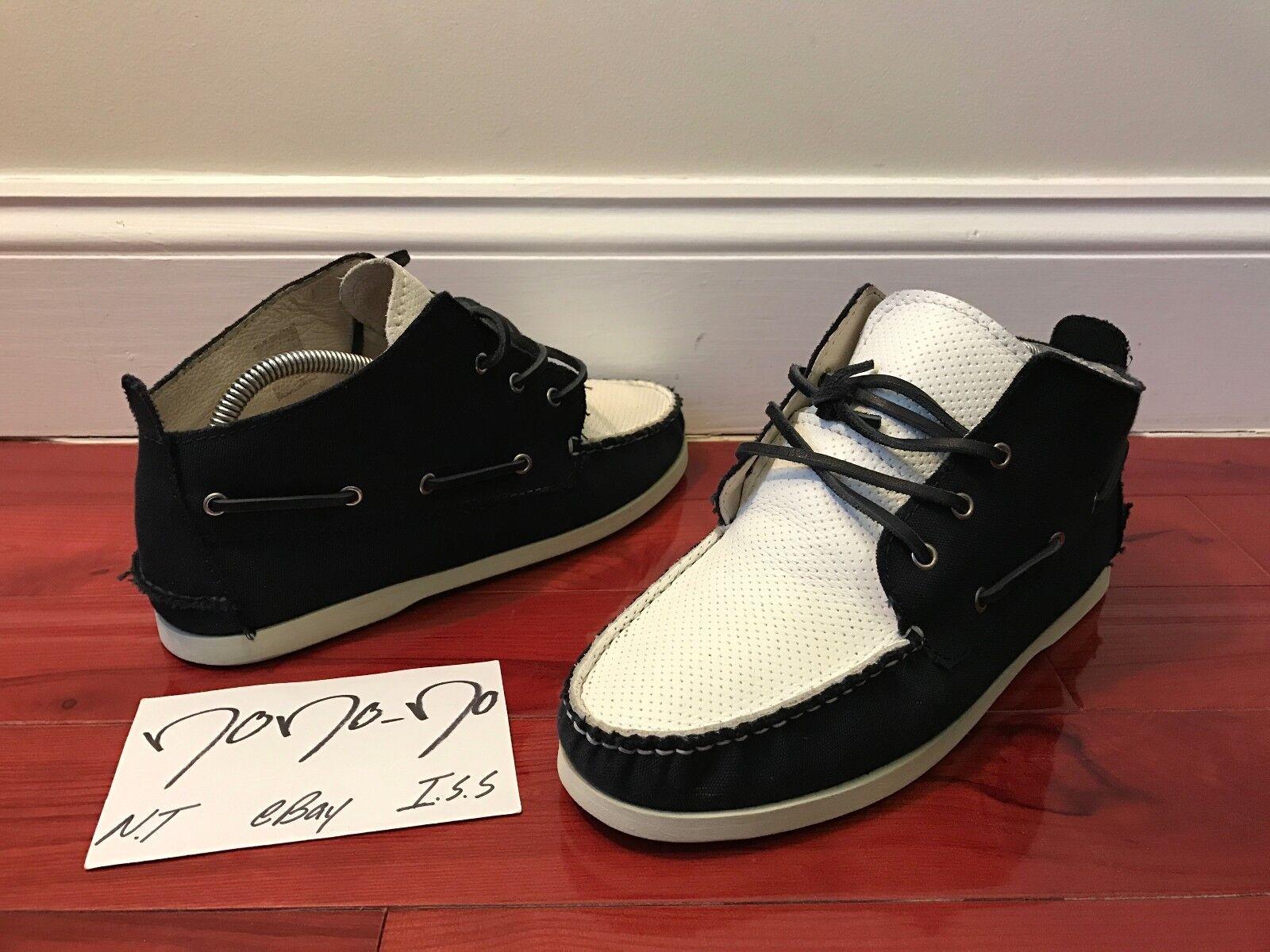 The Generic Man Shoreman Boat Shoe Mid Navy White Mid Shoe Boot size 8 d62d21