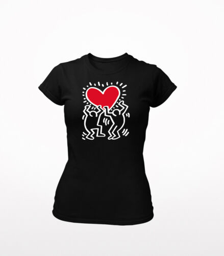 Keith Haring Big LoveWomen/'s Fit T-Shirt