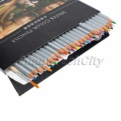 24/36/48 Water Soluble Water Color Wooden Pencil Artist Drawing Sketching Supply