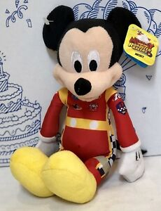 NEW-DISNEY-JUNIOR-MICKEY-AND-THE-ROADSTER-RACER-Cars-PLUSH-Mouse-Doll-NASCAR-Jr