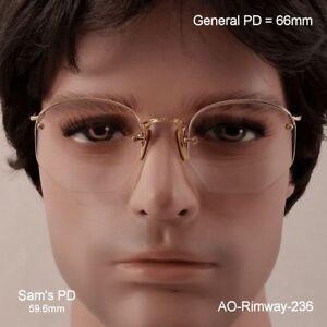 AO-Rimway-Ful-Vue-12k-Gold-Fill-True-Antique-Eyeglasses-amp-Case