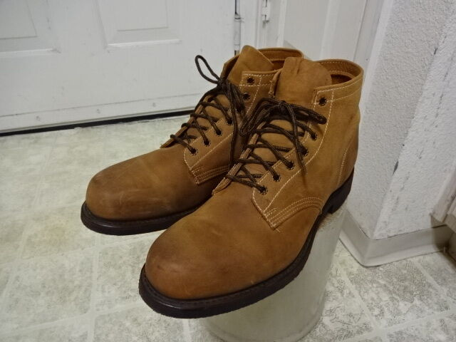VINTAGE USA MADE FRYE botas CORK SOLE GREAT COND FEW TIMES USED 13M MOTORCYCLE