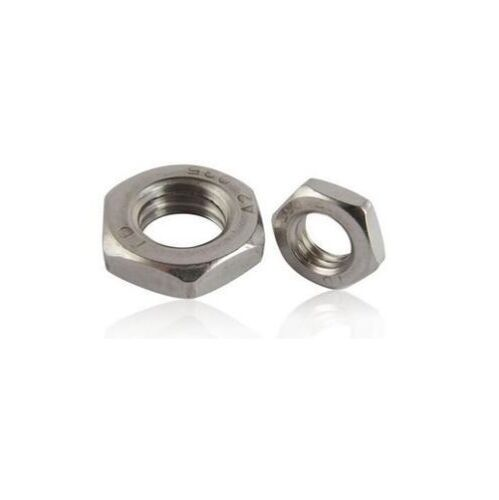 Qty 1000 Hex Lock Nut M12 12mm Metric Stainless SS 304 A2 70 Thin Half Jam