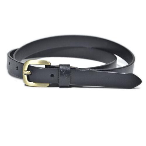 New Ladies Leather Belt Female Simple Retro Buckle Decorative Leather Thin Belt