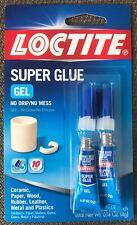 Lot Of 6 Loctite 2 Pk Super Glue Gel Clear Wood Rubber Plastic Metal