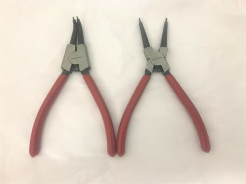 "Craftsman 2pc 7/"" Snap Ring Pliers External Internal Hand Tools Set 21407 27021"