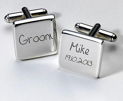 Personalised Wedding Cuff links Unique Keepsake Favour Gift, Present for Him #1