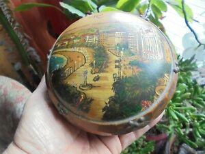 Ancienne Boite à Bijoux Art Populaire Bois Sculpté & Clouté Souvenir De Nice Wkxxuhsd-08003558-593981026