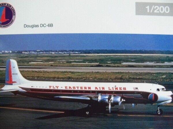 1200 Herpa Eastern Air Lines Douglas dc6b  n6121c 558495