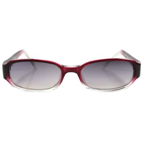 Classique Authentique vintage 90 s Fashion Deux Tons Marron Cadre Rectangle Lunettes de soleil