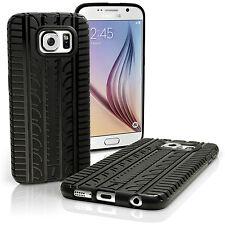 Negro Funda Carcasa Gel TPU para Samsung Galaxy S6 SM-G920 Neumático Case Cover