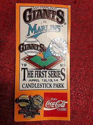 San Francisco Giants Florida Marlins 1993 1st Ever Series